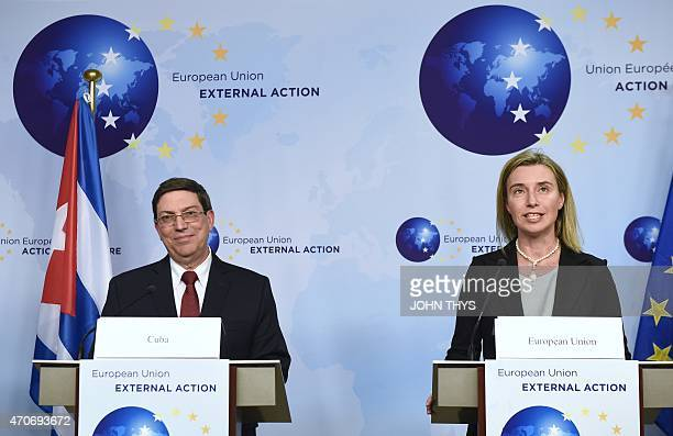 European Union High Representative for Foreign Affairs and Security Policy and European Commission Vice-President, Federica Mogherini , and Cuban...