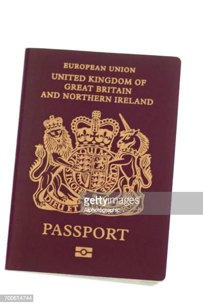 uk european union passport - passport stock pictures, royalty-free photos & images