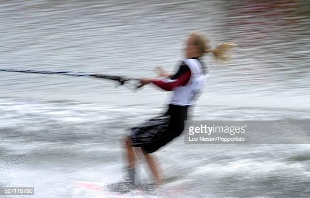 European Water Ski Championships Thorpe Ladies Open tricks preliminary round competitor | Location Thorpe England United Kingdom