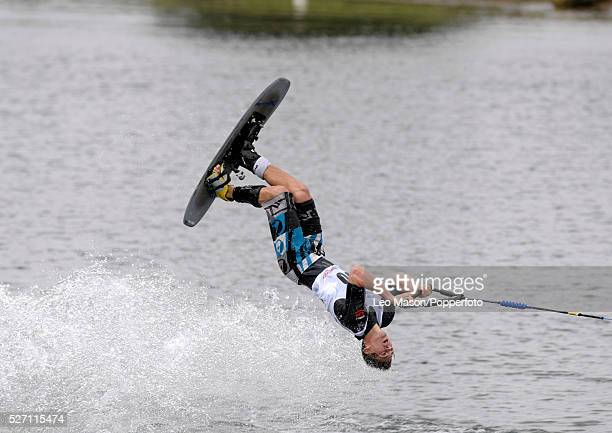 European Water Ski Championships Thorpe UK Mens Open tricks Final Alexandre Poteau FRA who finished 3rd The event was won by Nicolas Le Forestier FRA...