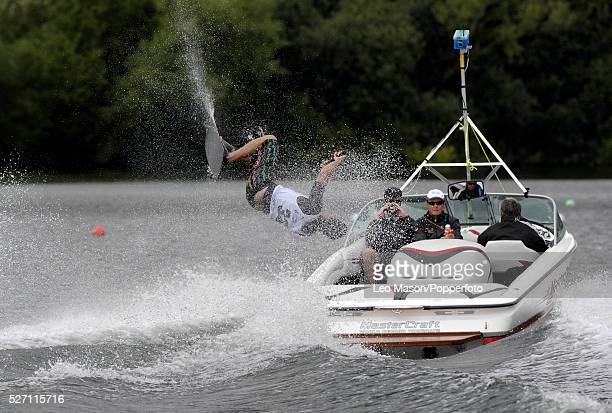 European Water Ski Championships Thorpe UK Mens Open tricks preliminary round competitor | Location Thorpe England United Kingdom