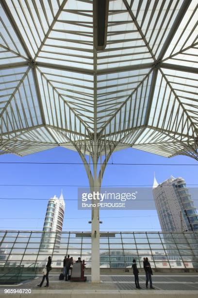 EuropePortugalLisbon1998 Lisbon world exposition site multimodal terminal gare do orienteSantiago Calatrava architect