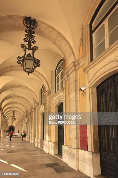 EuropePortugalLisbondo Comercio square arcade