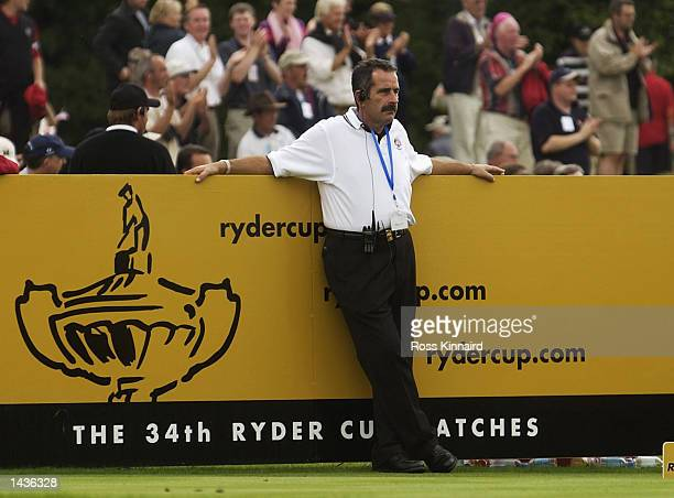 Europe's captain Sam Torrance on the fourth tee during the afternoon fourball matches on the second day of the 34th Ryder Cup at the De Vere Belfry...