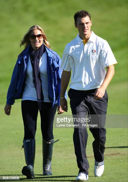 Europe's Martin Kaymer with his girlfriend Alison Micheletti