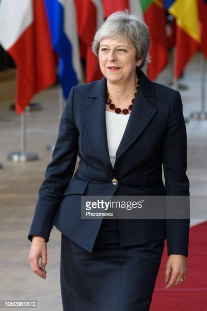 Europese Top Sommet de l'Union Européenne * Theresa May Brussels Belgium pict by Christophe Licoppe © Photo News via Getty Images