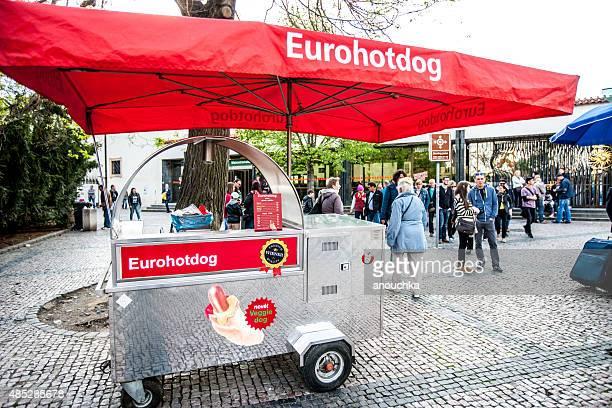 Europhotdog Stand in Prague, Czech Republic
