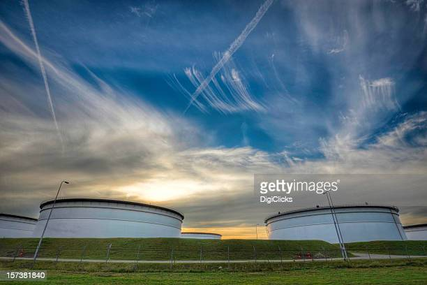 europoort storage - fuel storage tank stock photos and pictures