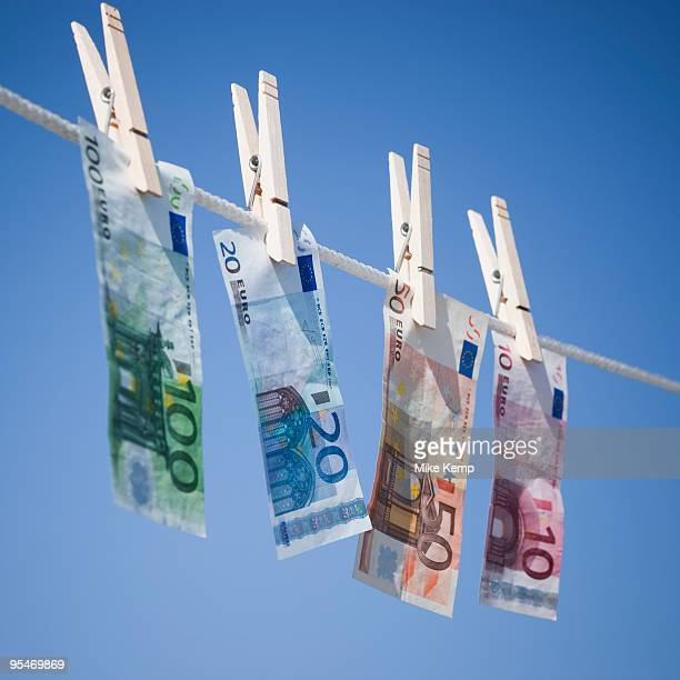 Euros on clothes line