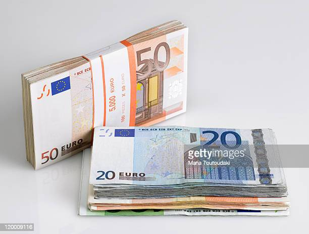 euros - twenty euro banknote stock photos and pictures