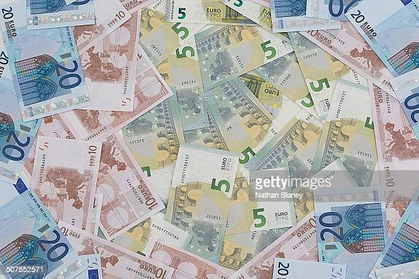 euros - five euro banknote stock photos and pictures