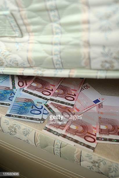 Euros under the mattress