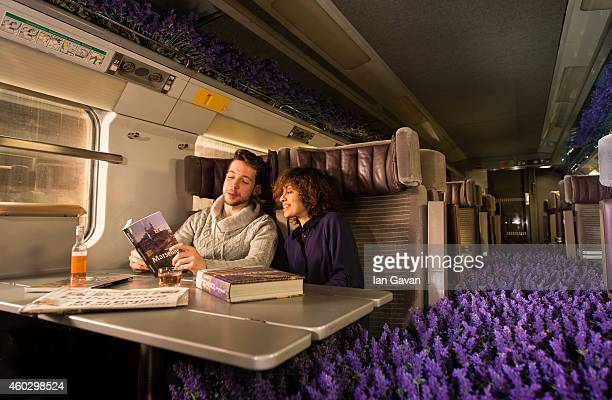 Eurostar celebrated the opening of ticket sales for its new yearround service to Lyon and the South of France by converting one of its carriages into...