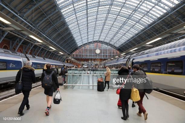 Eurostar terminal at Saint Pancras's station London UK
