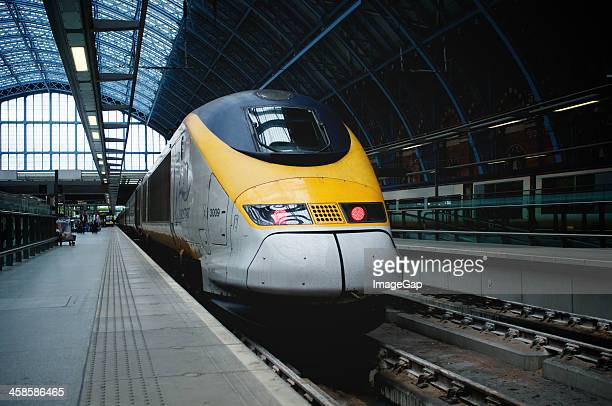 eurostar train - eurostar stock pictures, royalty-free photos & images