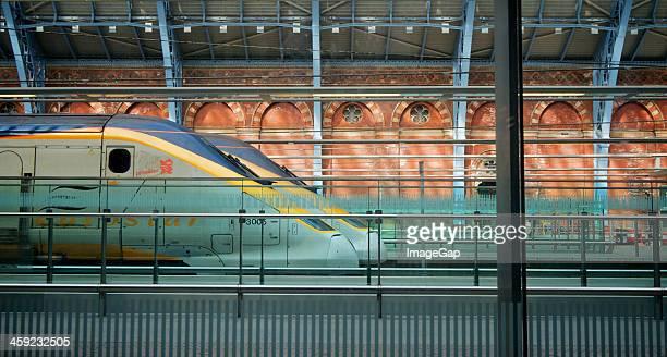 eurostar trains - eurostar stock pictures, royalty-free photos & images