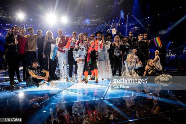 Eurovision finalists Victor Crone Lake Malawi Nevena Bozovic Serhat ZENA Kate MillerHeidke and Tamta during the 64th annual Eurovision Song Contest...