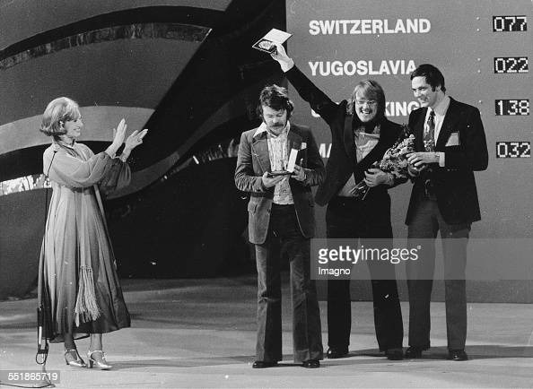 Eurovision Song Contest 1975 in Stockholm. Hostess Karin Falck ...