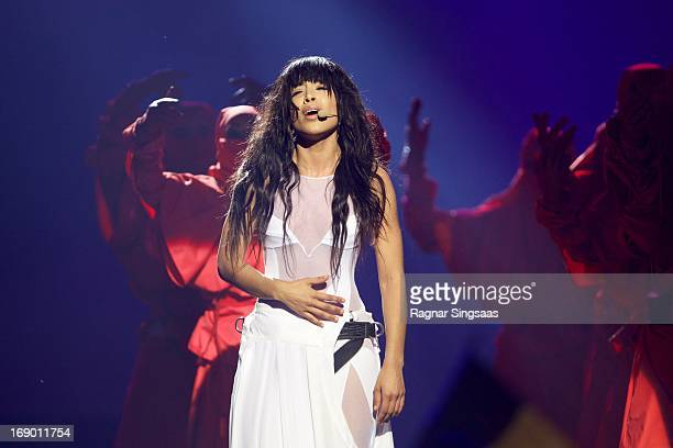 Eurovision Song Contest winner and Loreen of Sweden performs on stage during the grand final of the Eurovision Song Contest 2013 at Malmo Arena on...