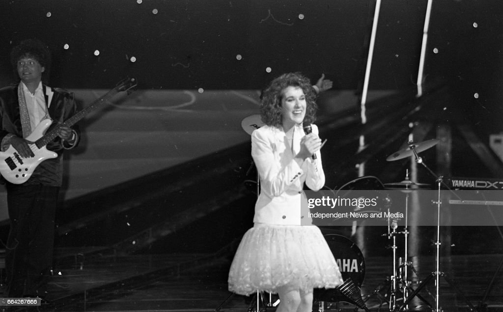 Eurovision Song Contest Celine Dion, 1988 : News Photo