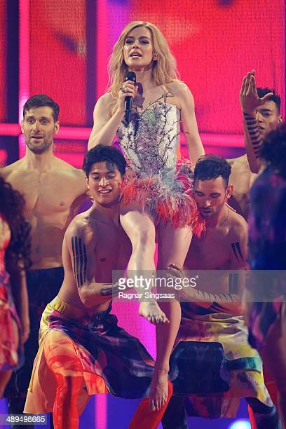 Eurovision Song Contest winner Emmelie de Forest of Denmark performs on stage during the grand final of the Eurovision Song Contest 2014 on May 10...