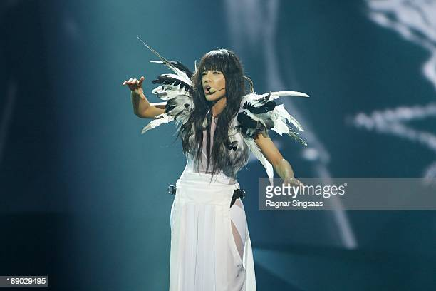 Eurovision Song Contest winner Loreen of Sweden performs on stage during the grand final of the Eurovision Song Contest 2013 at Malmo Arena on May 18...