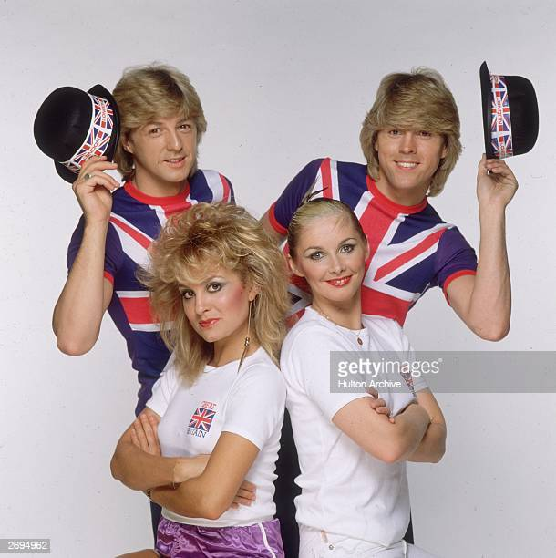 Eurovision Song Contest winners Bucks Fizz. Clockwise, from the top left, the members of the group are Bobby G, Mike Nolan , Cheryl Baker, and Jay...