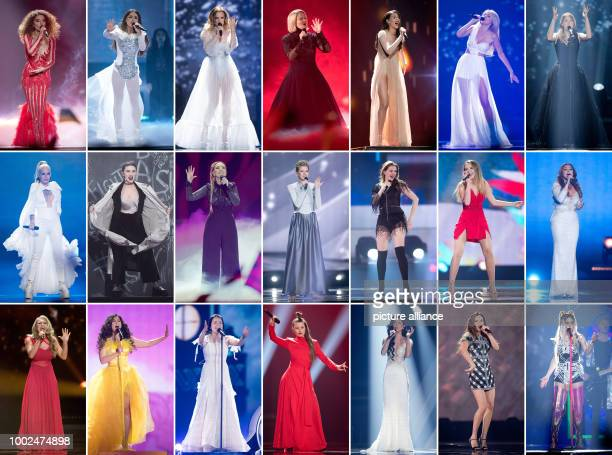 """Eurovision Stoff Contest"""": The combination shows 21 singers from different nations during the semi-finals and the rehearsals in Kiev, Ukraine. From..."""