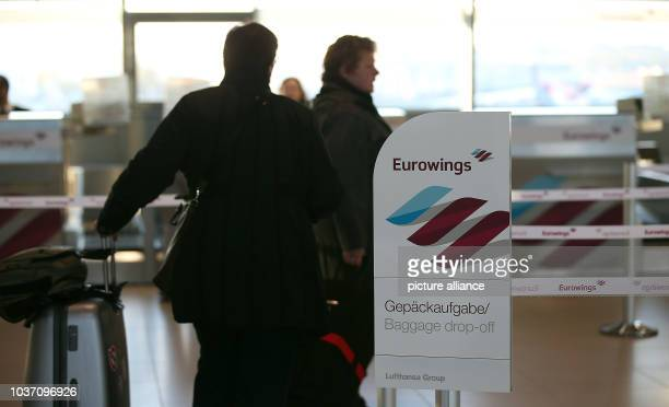 Eurowings passangers at check-in at the airport inCologne, Germany, 02 November 2015. The discount subsidiary of Lufthansa, which has taken over...