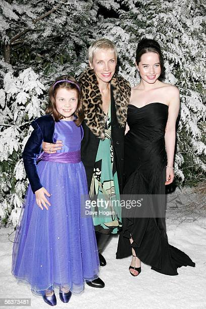 Eurythmics member Annie Lennox and actresses Georgie Henley and Anna Popplewell attend the aftershow party following the Royal Film Performance and...