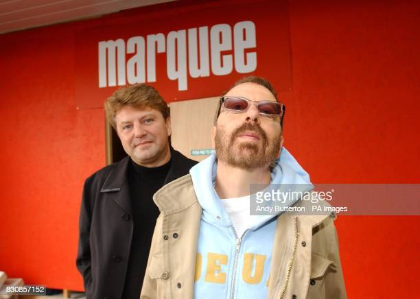 Eurythmics musician Dave Stewart and club entrepreneur Mark Fuller during a photocall in Islington where it was announced that The Marquee one of the...