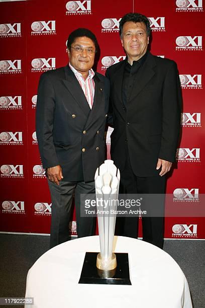 Eusebio Da Silva Ferreira and Elias Figueroa Portugese legends Eusebio and Chilean hero Elias joined Celador international in Cannes today at the...
