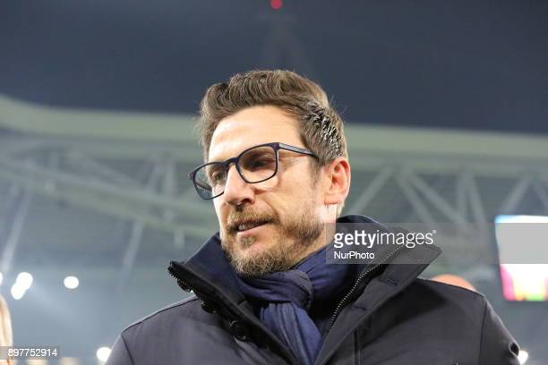Eusebio Di Francesco before the Series A football match between Juventus FC and AS Roma at Allianz Stadium on 23 December 2017 in Turin Italy