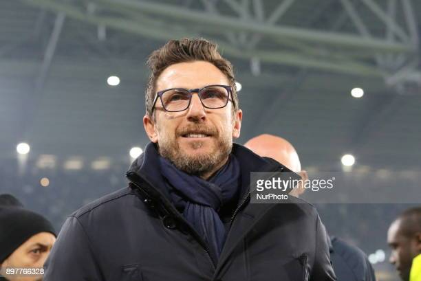 Eusebio Di Francesco before the Series A football match between Juventus FC and AS Roma at Allianz Stadium on 23 December 2017 in Turin Italy...