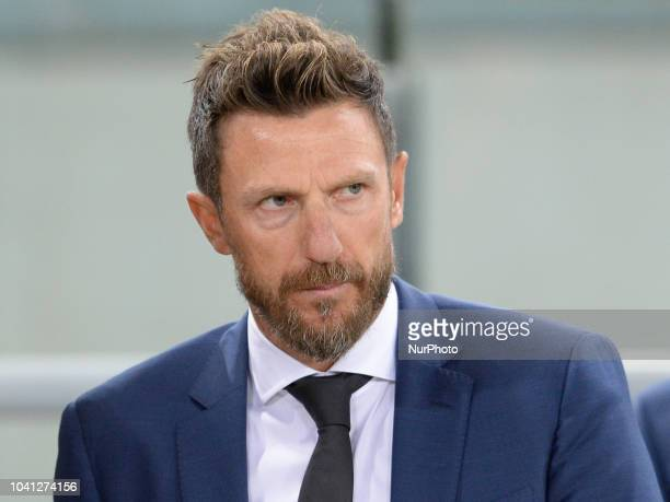 Eusebio Di Francesco during the Italian Serie A football match between AS Roma and Frosinone at the Olympic Stadium in Rome on september 26 2018