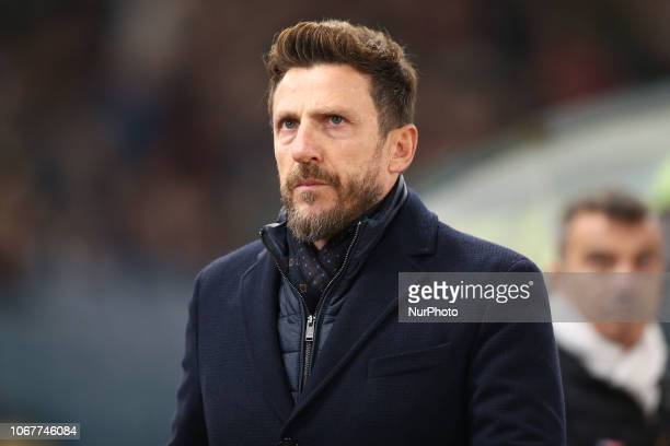 Eusebio Di Francesco head coach of AS Roma during the Italian Serie A 2018/2019 match between AS Roma and FC Inter at Stadio Olimpico on Dicember 2...