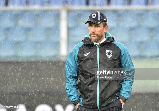 Eusebio Di Francesco head coach of UC Sampdoria during the Serie A match between UC Sampdoria and Torino FC at Stadio Luigi Ferraris on September 22...