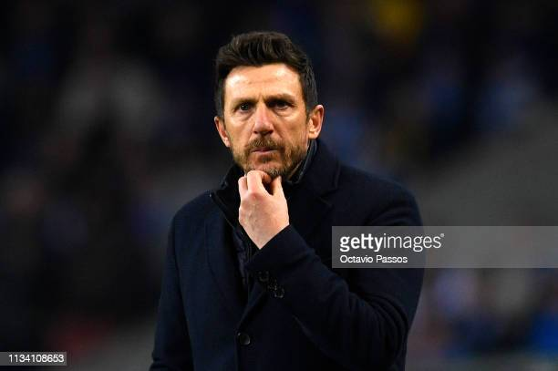 Eusebio Di Francesco Manager of AS Roma during the UEFA Champions League Round of 16 Second Leg match between FC Porto and AS Roma at Estadio do...