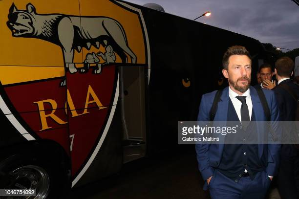 Eusebio Di Francesco manager of AS Roma prior the Serie A match between Empoli and AS Roma at Stadio Carlo Castellani on October 6 2018 in Empoli...