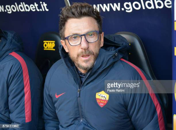 Eusebio Difrancesco head coach of Roma during the Serie A match between Genoa CFC and AS Roma at Stadio Luigi Ferraris on November 26 2017 in Genoa...
