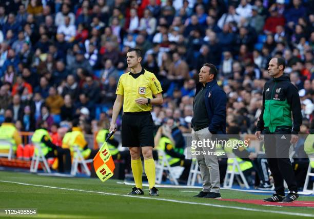 Eusebio Sacristan seen in action during the Spanish La Liga match between Real Madrid and Girona CF at the Santiago Bernabeu Stadium in Madrid Spain