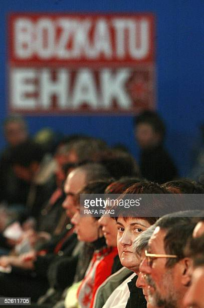 Euskal Herrialdetako Alderdi Komunista EHAKPCTV candidate Nekane Erauzkin for the 17 April 2005 Basque regional elections attends the first EHAK...