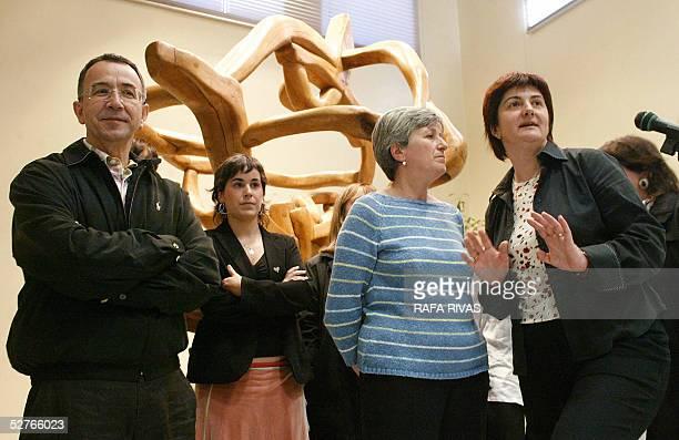 Euskal Herrialdetako Alderdi Komunista EHAKPCTV members Julian Martinez Aiora Mitxelena Karmele Berasategui and Nekane Erauskin pose for...