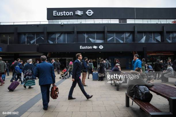 Euston Station the proposed terminus for HS2 is pictured on February 21 2017 in London England The HS2 Hybrid Bill which allows building to begin on...