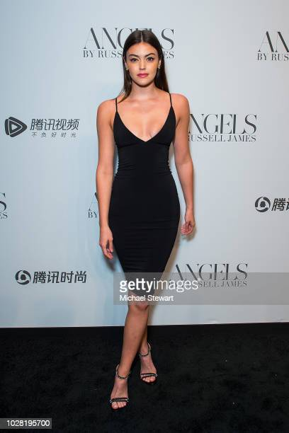 Eva Adams attends the Russell James 'Angels' book launch & exhibit at Stephan Weiss Studio on September 6, 2018 in New York City.