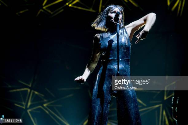 Eva Amara of Amaral performs on stage at Coliseum A Coruña, on November 2, 2019 in A Coruna, Spain.