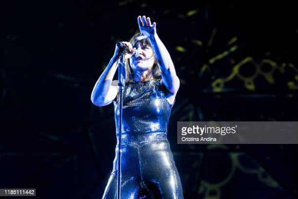 Eva Amara of Amaral performs on stage at Coliseum A Coruña on November 2 2019 in A Coruna Spain