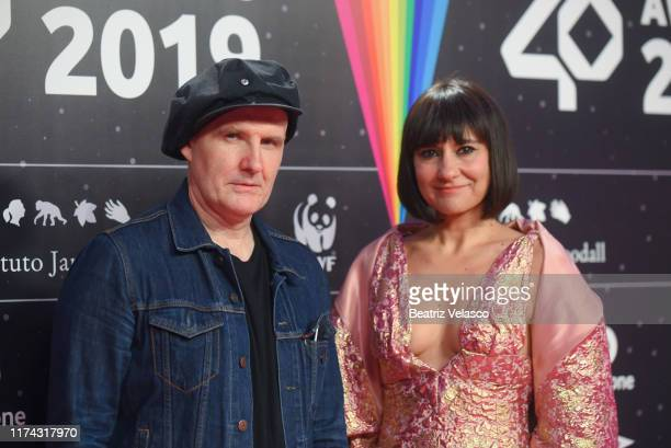"""Eva Amaral and Javier Aguirre """"Amaral"""" attend the 40 Principales Awar on September 12, 2019 in Madrid, Spain."""
