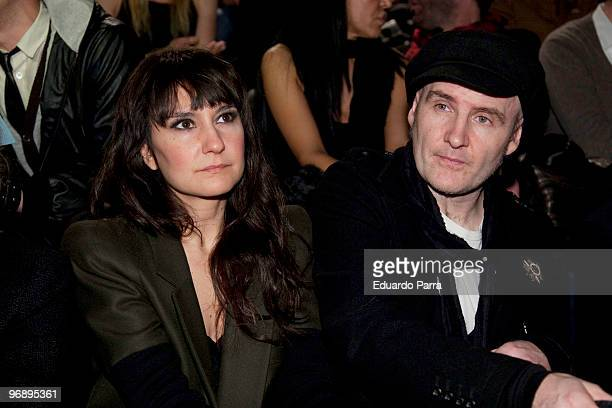 Eva Amaral and Juan Aguirre attend day three of Cibeles Fashion Week at Ifema on February 20 2010 in Madrid Spain