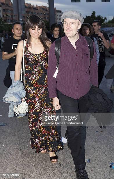 Eva Amaral and Juan Aguirre attend Paul McCartney's concert at the Vicente Calderon stadium at Vicente Calderon Stadium on June 2 2016 in Madrid Spain